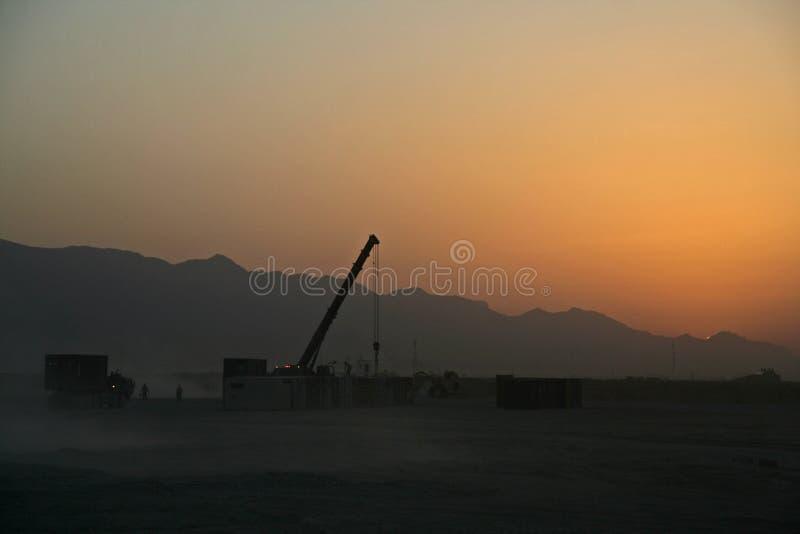 Logistica dell'Afghanistan come tramonto immagine stock libera da diritti