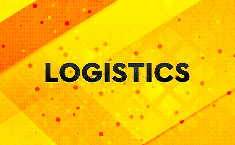Logistics abstract digital banner yellow background. Logistics isolated on abstract digital banner yellow background royalty free illustration