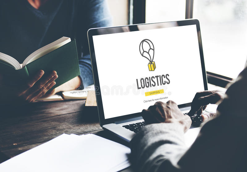 Logistics Delivery Freight Shipping Storage Service Concept. Business Logistics Shipping Delivery Concept stock image