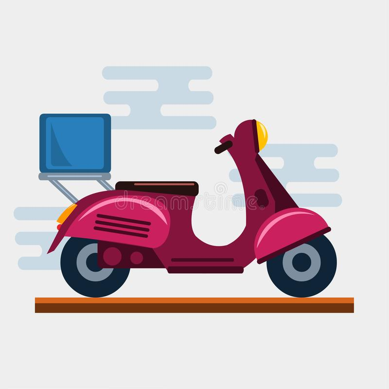 Logistics and delivery scooter vector illustration. 