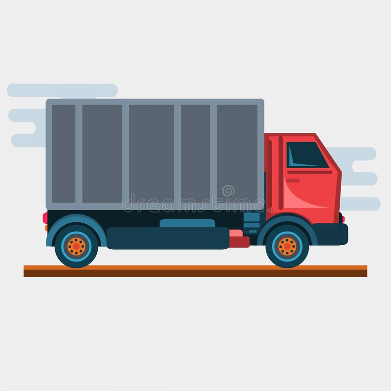 Logistics and delivery truck vector illustration. 