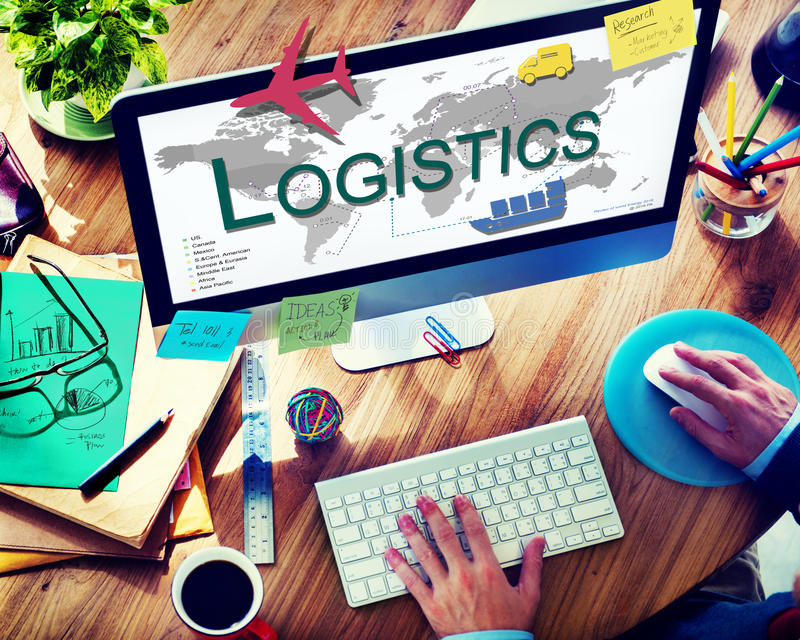 Logistics Freight Management Storage Supply Concept.  stock images