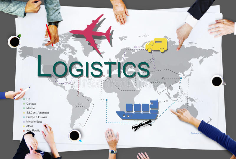 Logistics Freight Management Storage Supply Concept. Logistics Freight Management Storage Supply stock photography