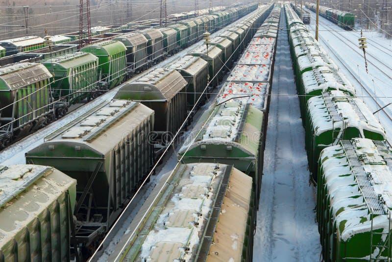 Logistics. Freight transportation. Railroad. royalty free stock photos