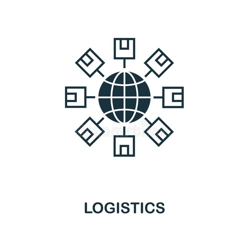 Logistics icon. Monochrome style design from logistics delivery icon collection. UI. Pixel perfect simple pictogram logistics icon. Logistics icon. Monochrome stock illustration