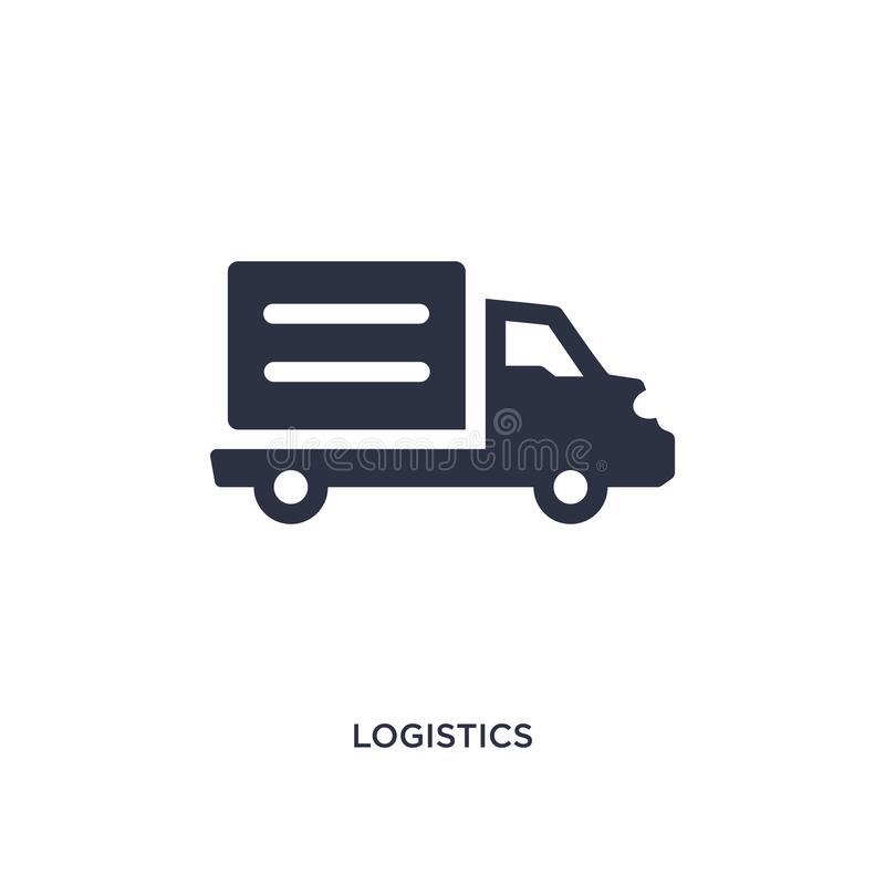 Logistics icon on white background. Simple element illustration from delivery and logistic concept. Logistics isolated icon. Simple element illustration from stock illustration