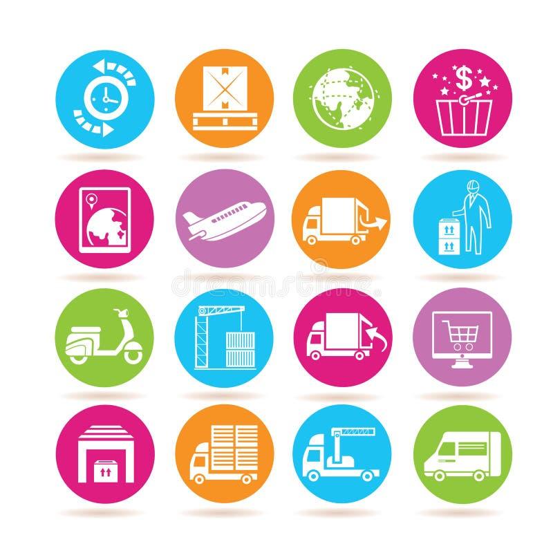 Logistics icons vector illustration