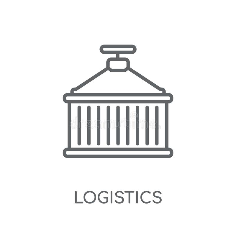 Logistics linear icon. Modern outline Logistics logo concept on. White background from Industry collection. Suitable for use on web apps, mobile apps and print royalty free illustration