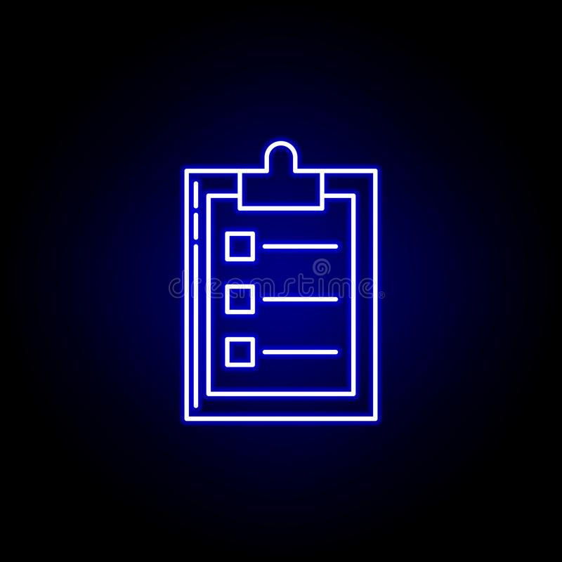 Logistics plan line icon in blue neon style. Set of logistics illustration icons. Signs, symbols can be used for web, logo, mobile. App, UI, UX on black vector illustration