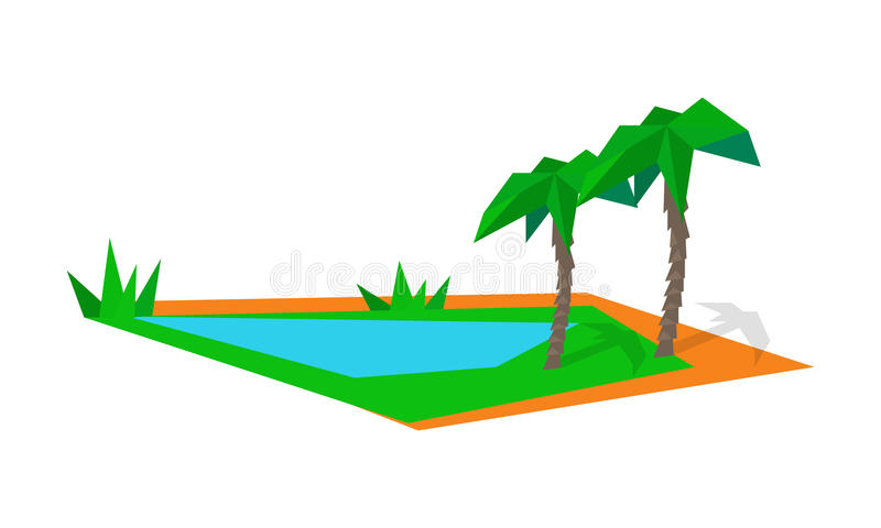 Logistics Shipping and Distribution to Islands. Transportation of goods to distant points of world. Worldwide warehouse deliver through planet. Logistics stock illustration