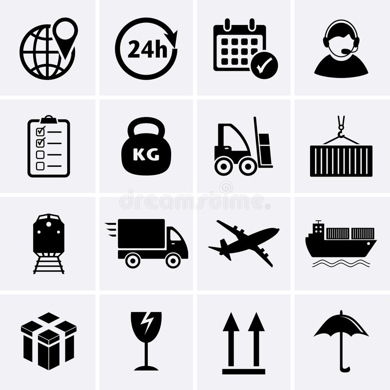 Logistics and Shipping icon. Vector vector illustration
