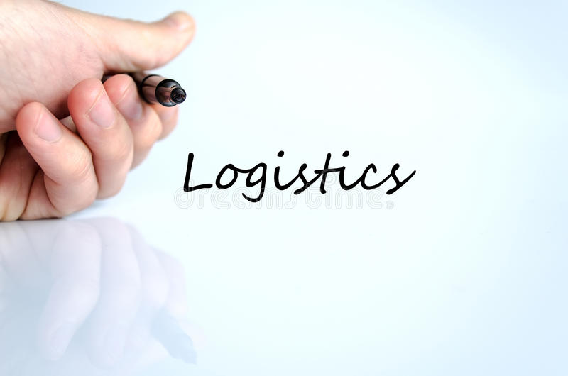 Logistics text concept. Isolated over white background royalty free stock images