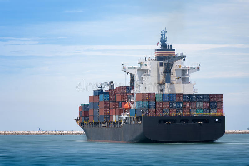 Logistics and transportation of Container stock photos