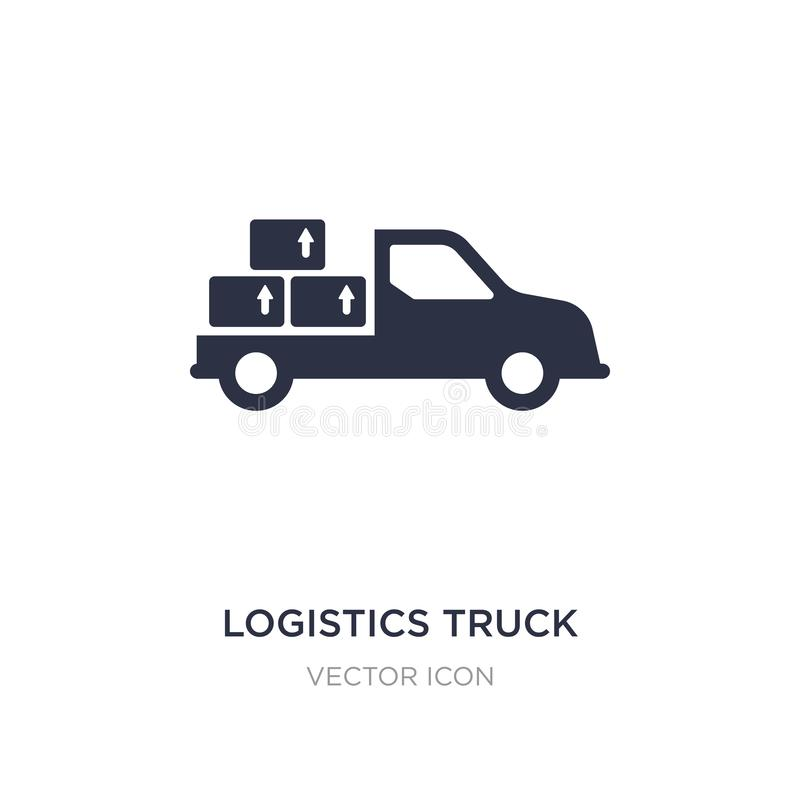 Logistics truck icon on white background. Simple element illustration from Transport concept. Logistics truck sign icon symbol design royalty free illustration