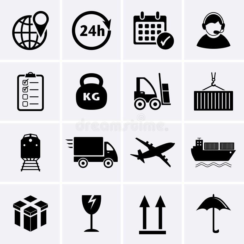 Logistiek en Verschepend pictogram vector illustratie