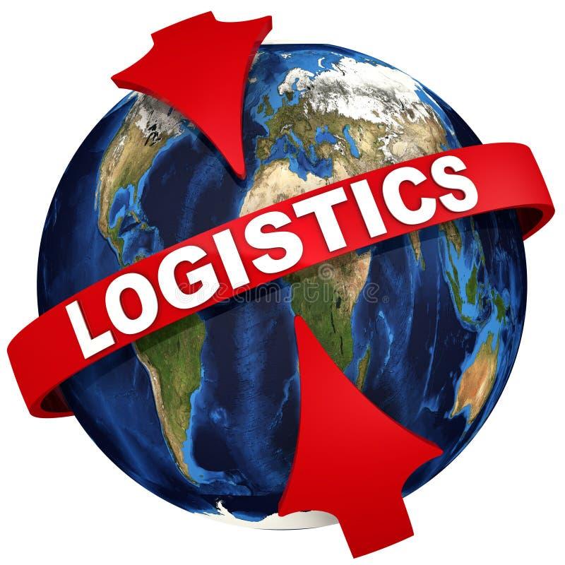 Logistiek wereldwijd 3D Illustratie stock illustratie
