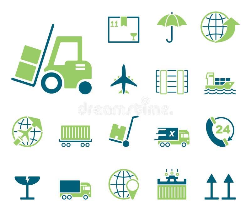 Logistik & försäljningar - Iconset - symboler vektor illustrationer