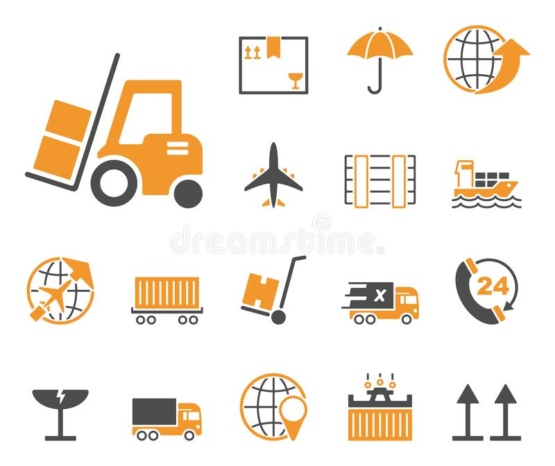Logistik & försäljningar - Iconset - symboler royaltyfri illustrationer