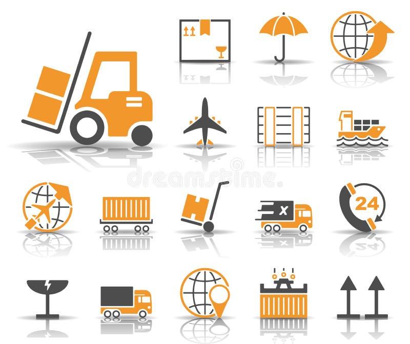 Logistik & försäljningar - Iconset - symboler stock illustrationer