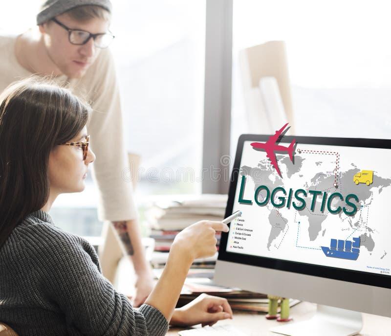 Logistik-Fracht-Management-Speicher-Versorgungs-Konzept stockbilder