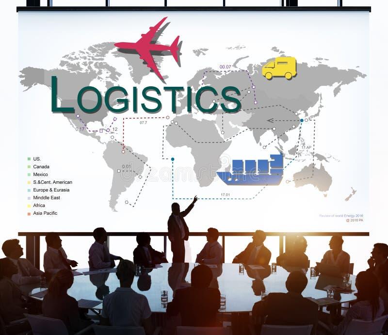 Logistik-Fracht-Management-Speicher-Versorgungs-Konzept stockbild