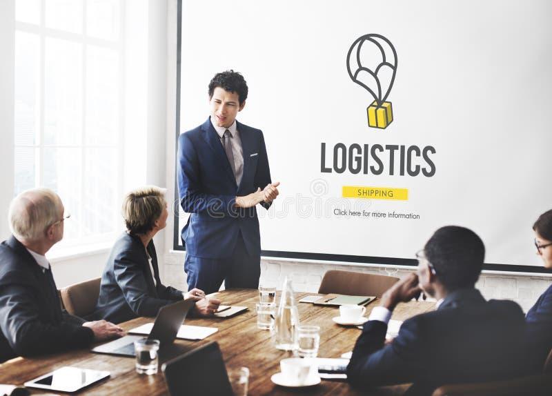 Logistik-Lieferungs-Fracht-Versand-Speicher-Servicekonzept stockfotografie