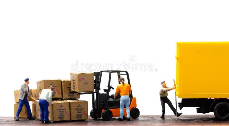 Logistiklagerfracht-Transportkonzept stockbilder