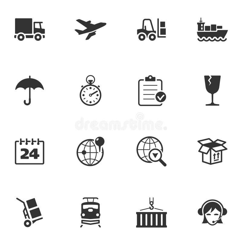 Logistiksymboler royaltyfri illustrationer