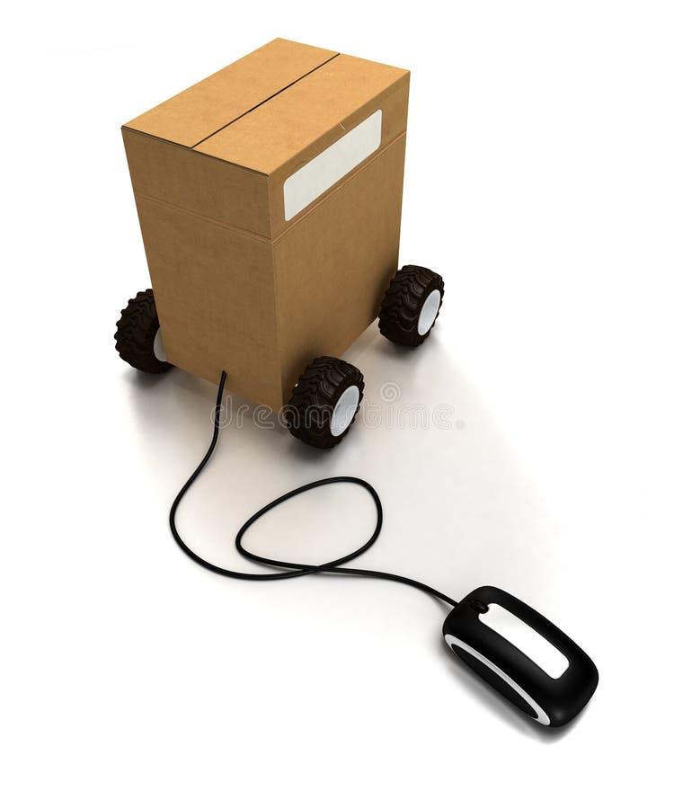 Logistique en ligne illustration libre de droits