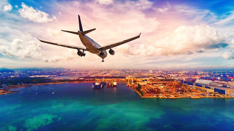 Logistique et transport du cargo de récipient et de la cargaison p photos stock