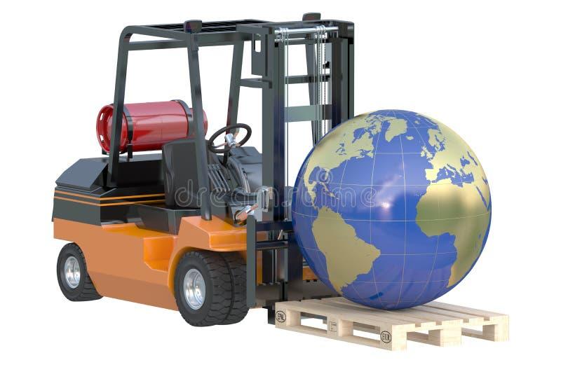 Logistique globale, expédition et conce mondial d'affaires de la livraison illustration de vecteur