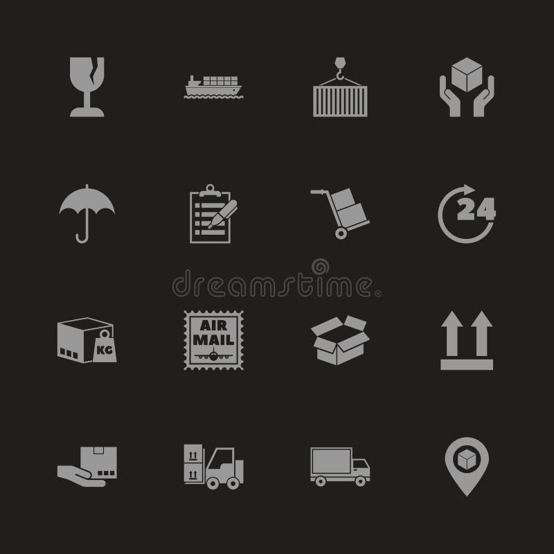 Logistique - icônes plates de vecteur illustration de vecteur