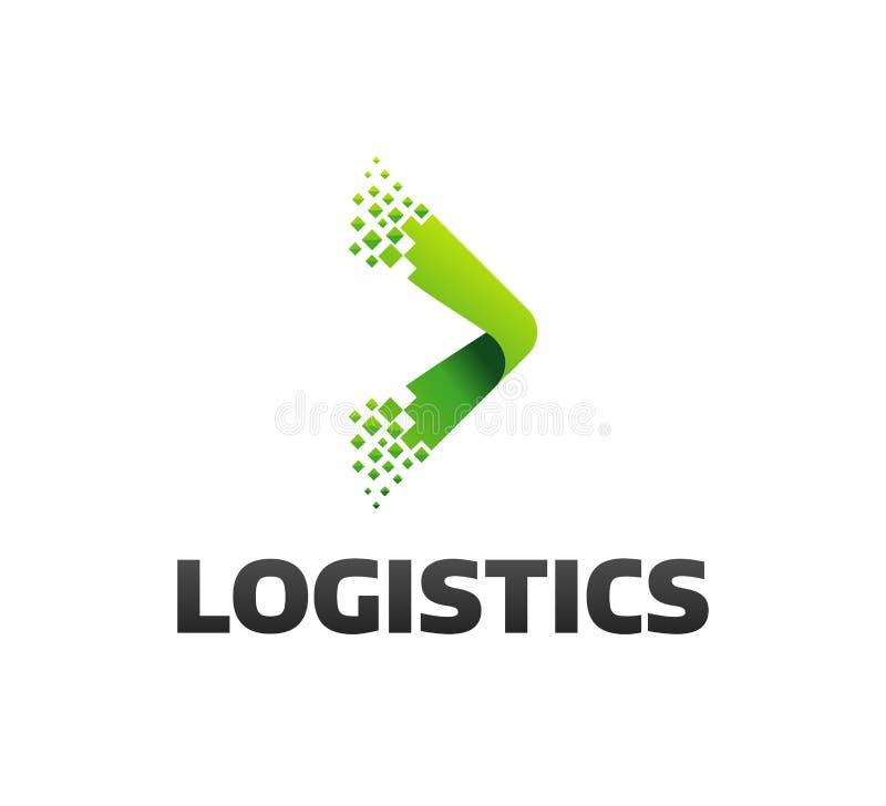 Logistisch bedrijfembleem Pijlpictogram Leveringspictogram Pijlpictogram pijl Het embleem van de leveringsdienst Het Digitale Web royalty-vrije stock afbeelding
