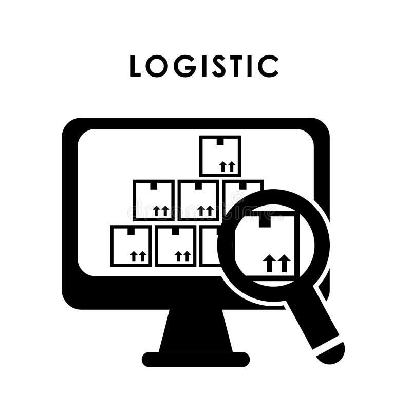 Logistisch en doosontwerp royalty-vrije illustratie