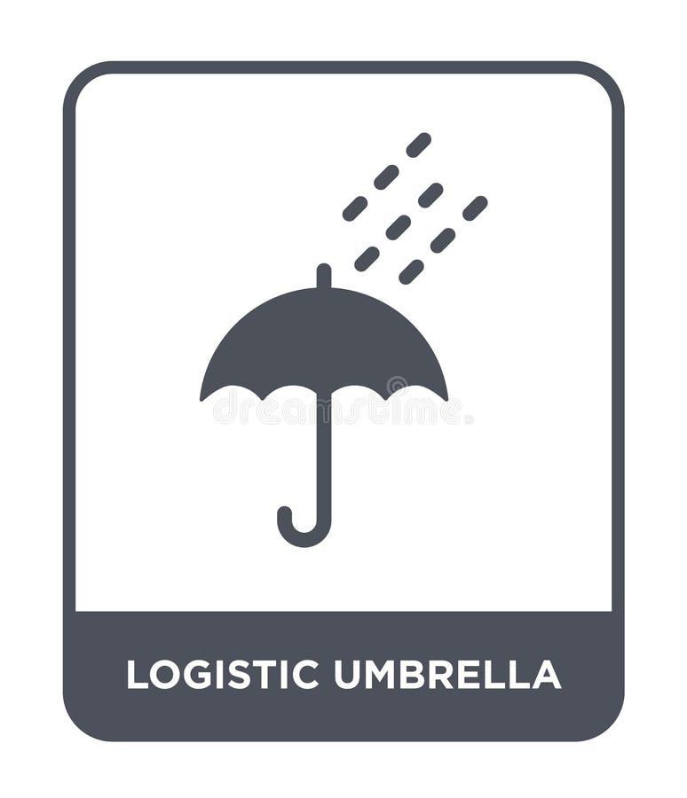 logistisch paraplupictogram in in ontwerpstijl logistisch die paraplupictogram op witte achtergrond wordt geïsoleerd logistisch p stock illustratie