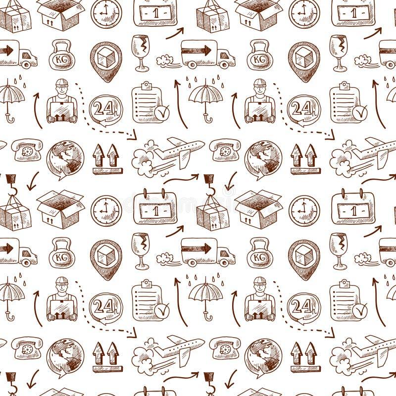 Logistisch pictogrammen naadloos patroon vector illustratie