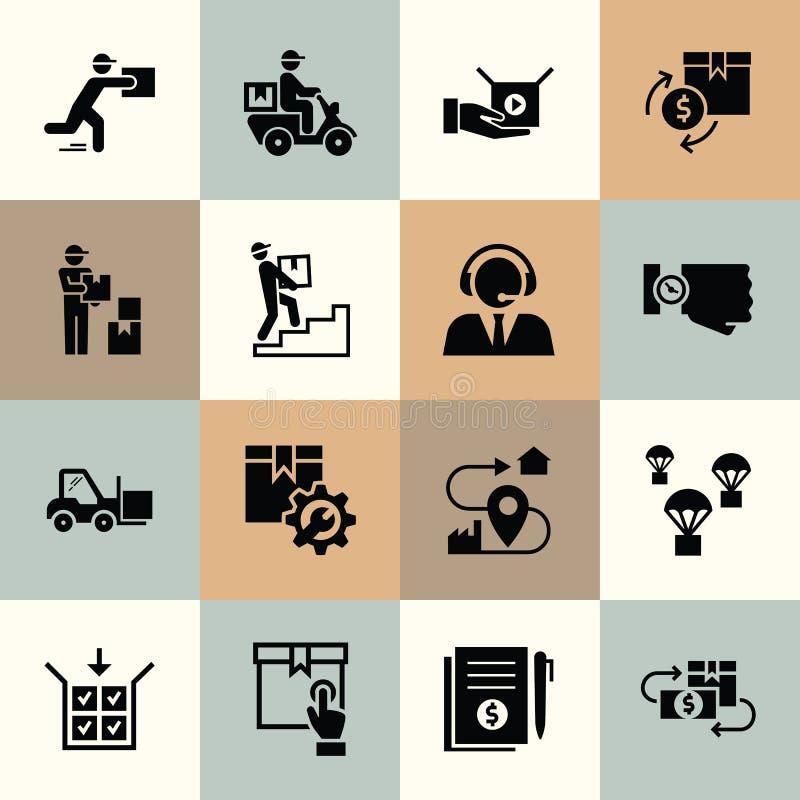Logistische Ikonen der Vektorlieferung f?r Netz, infographic oder Druck stock abbildung