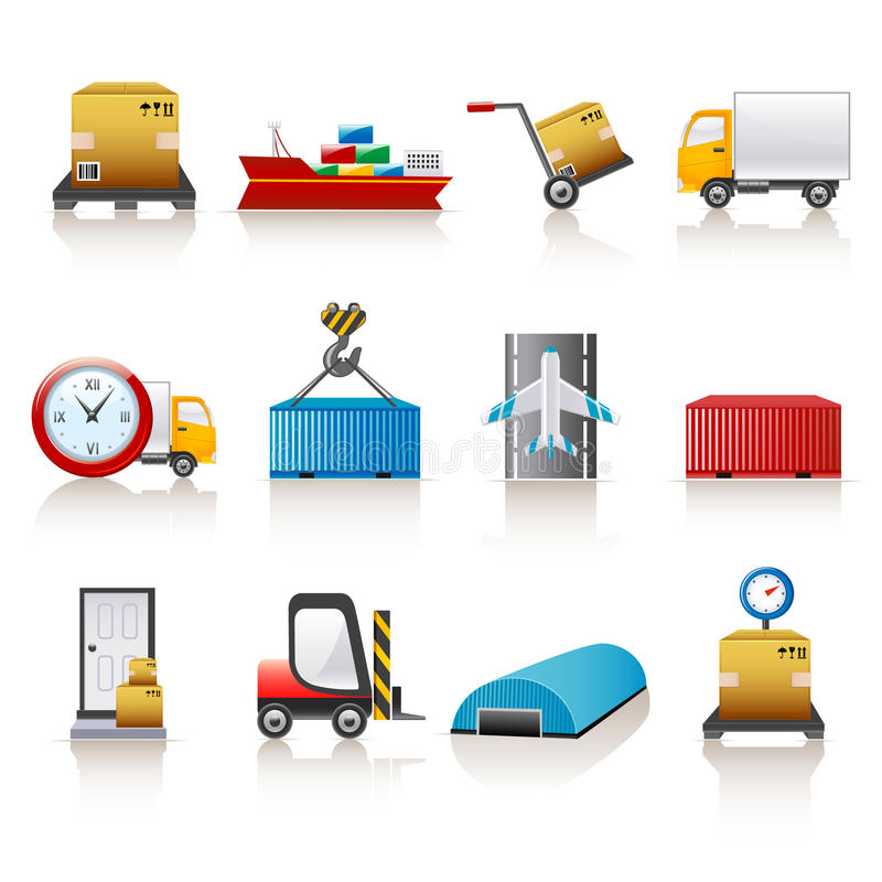 Logistische pictogrammen vector illustratie