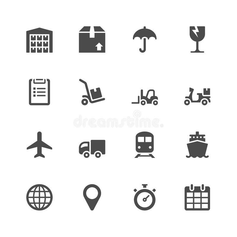 Logistische pictogrammen stock illustratie