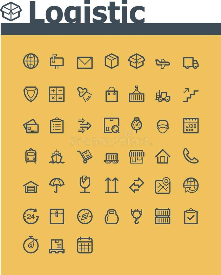 Logistische pictogramreeks royalty-vrije illustratie