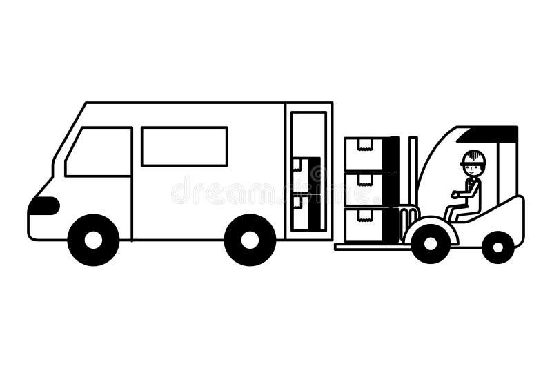 Logistisk leverans för lager vektor illustrationer