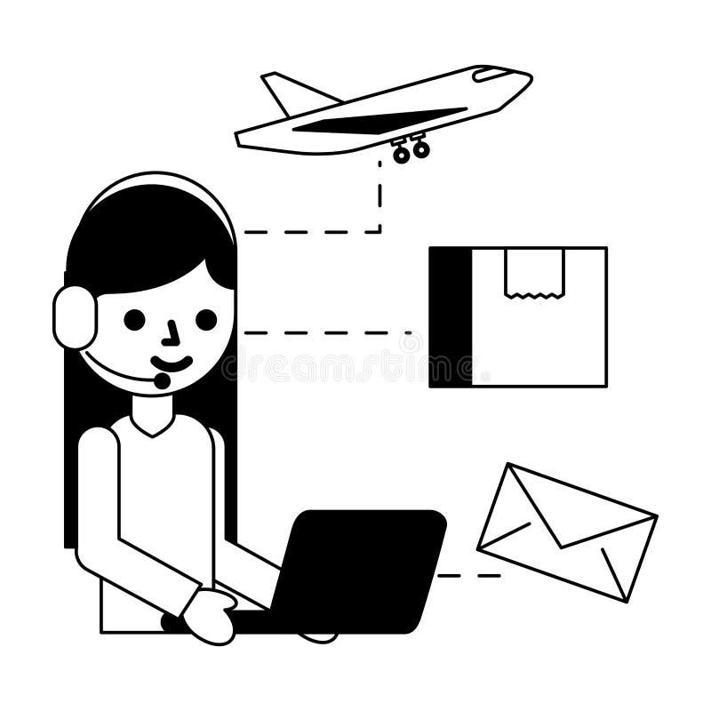 Logistisk leverans f?r lager vektor illustrationer