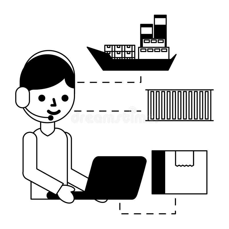 Logistisk leverans f?r lager royaltyfri illustrationer