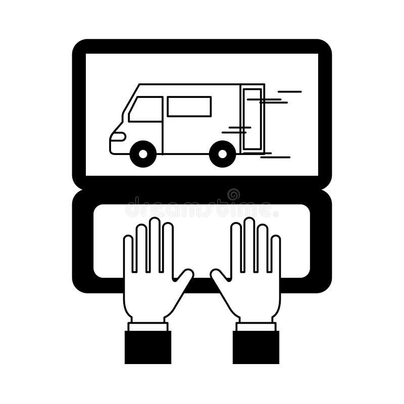 Logistisk leverans f?r lager stock illustrationer