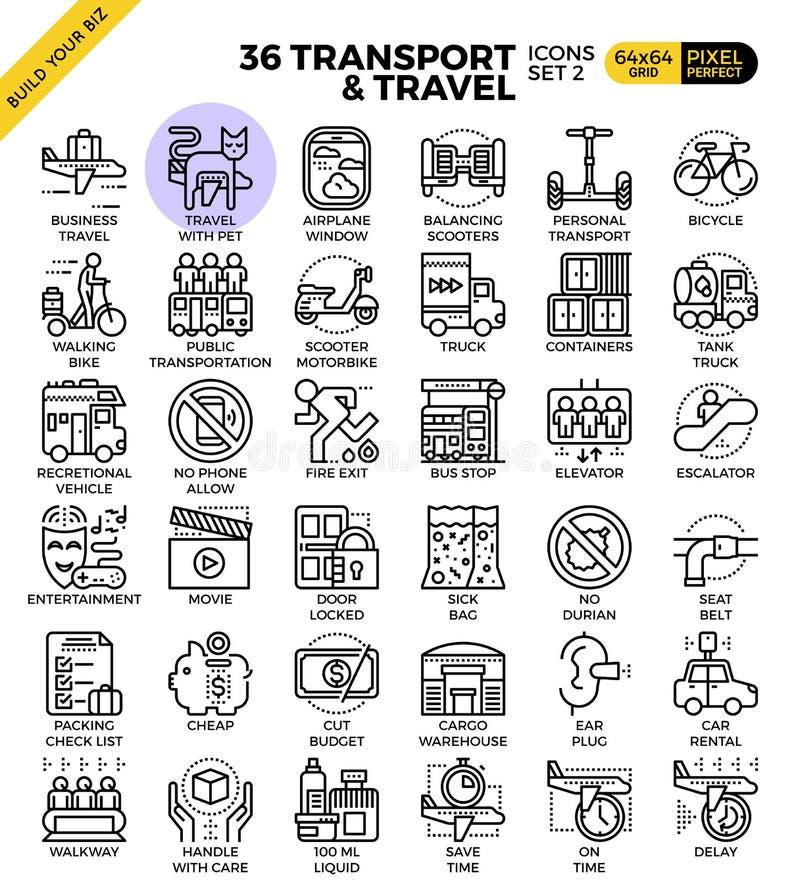 Logistisk & loppöversiktstransport symboler stock illustrationer
