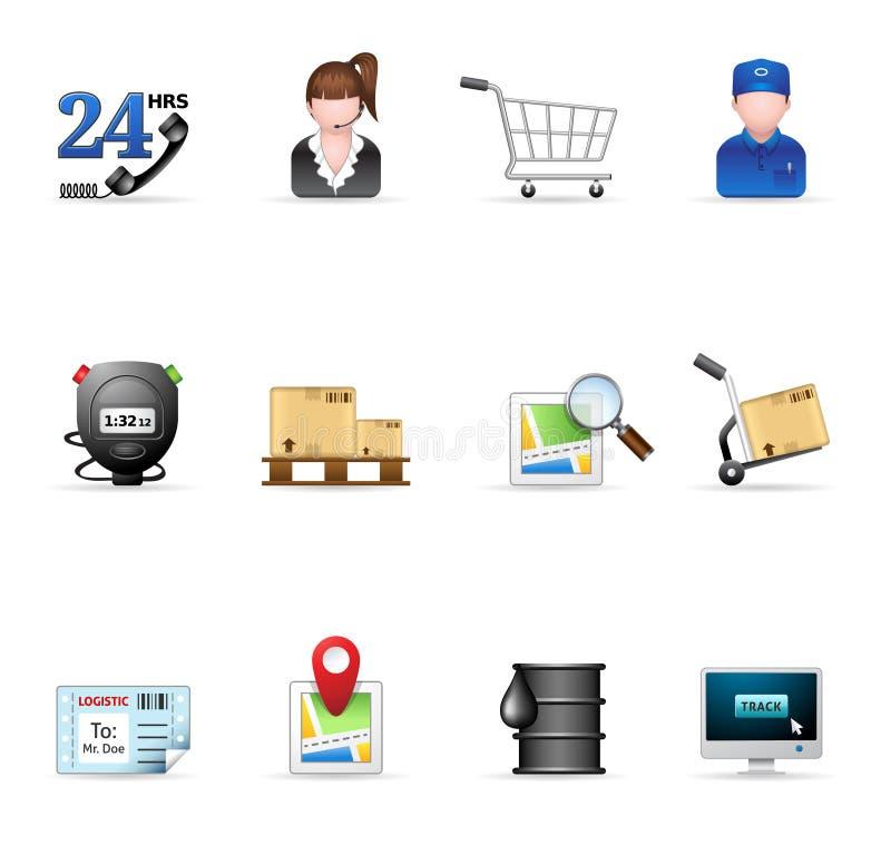 logistisk rengöringsduk för symboler royaltyfri illustrationer
