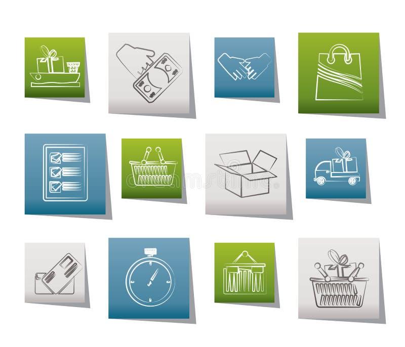 logistisk sändnings för symboler stock illustrationer