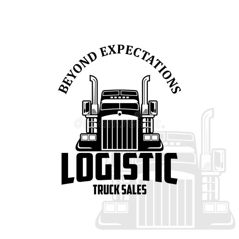 Logistycznie ciężarowy sprzedaż loga wektor royalty ilustracja