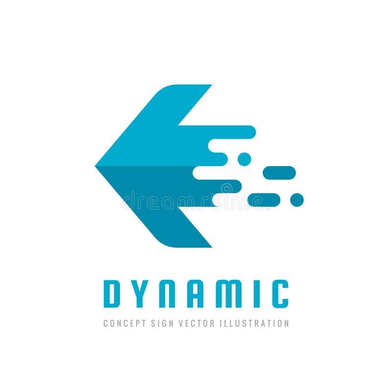 Logistycznie firma - pojęcie logo biznesowego szablonu wektorowa ilustracja w mieszkanie stylu Abstrakcjonistyczny strzałkowaty k ilustracji