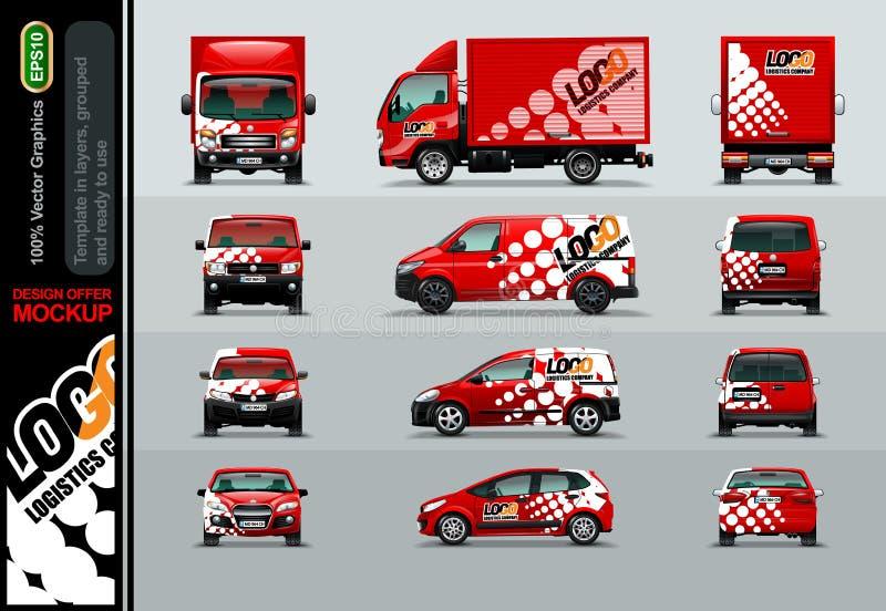 Logistycznie Firmy Układ oferty dla twój biznesu ilustracji